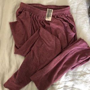 Free People heather burgundy boyfriend sweat pants